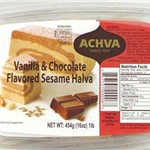 ACHVA MARBLE VANILLA AND CHOCOLATE SESAME HALVA 500G