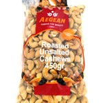 CASHEWS ROASTED UNSALTED AEGEAN 500g