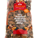 ALMOND DRY ROASTED AEGEAN 450g