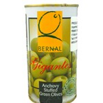 BERNAL GREEN OLIVE GIGANTES WITH ANCHOVY FLAVOUR 370ML