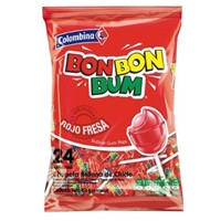 BON BON BUM ROJA FRESA STRAWBERRY x24 456g