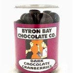 BYRON BAY DARK CHOC CRANBERRY 200G