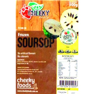 CHEEKY PIECE FROZEN SOURSOP 500g