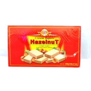 EUROPA HAZELNUT WAFERS 500G