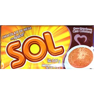 SOL SWEET CHOCOLATE 500g