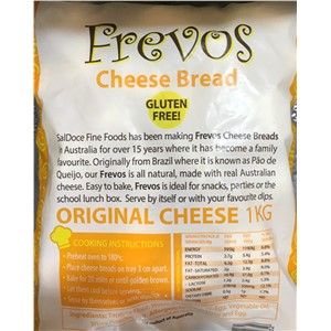 FREVOS CHEESE BREAD FROZEN 1kg
