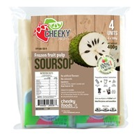 CHEEKY FRUIT PULP FROZEN SOURSOP 4X100G