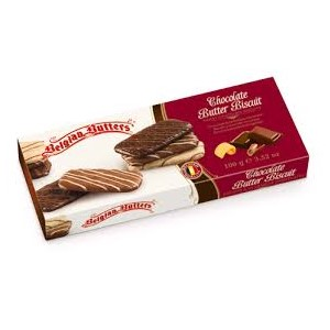 BELGIAN BUTTERS CHOCOLATE BISCUITS ASSORTED 100g
