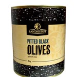 SANDHURST PITTED BLACK OLIVES SPANISH 3KG