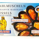 MUSSELS HOT PICKLED SAUCE VIGILANTE 8/12 115g