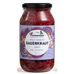 RED CABBAGE & GARLIC CHILLED SAUERKRAUT THE FERMENTIER 500g